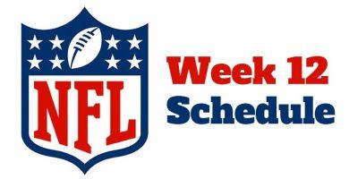 NFL Week 12 Betting Lines